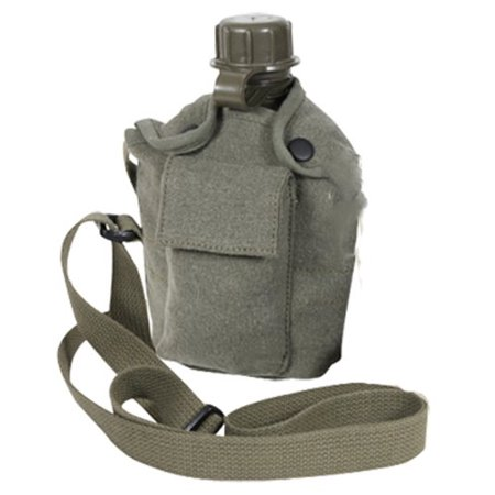 Rothco Vintage Canteen Carry, All with Shoulder Strap, OD Green