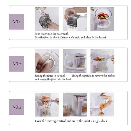 5 In 1 Baby Food Processor Feeding Blender Fixer Puree Heating Defrosting - image 1 of 10