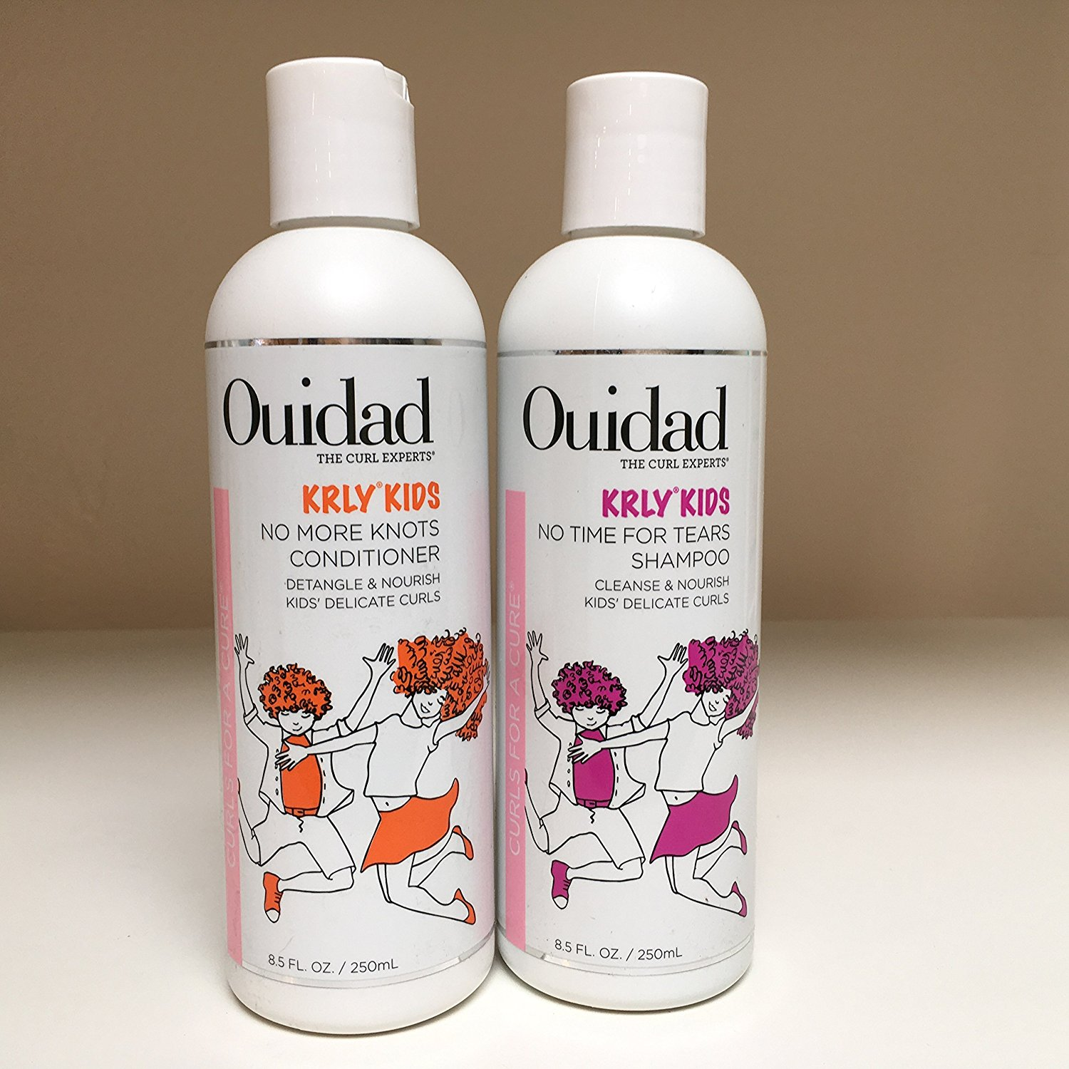 Ouidad KRLY KIDS No Time for Tears Shampoo & No More Knots Conditioner 8.5oz DUO SET