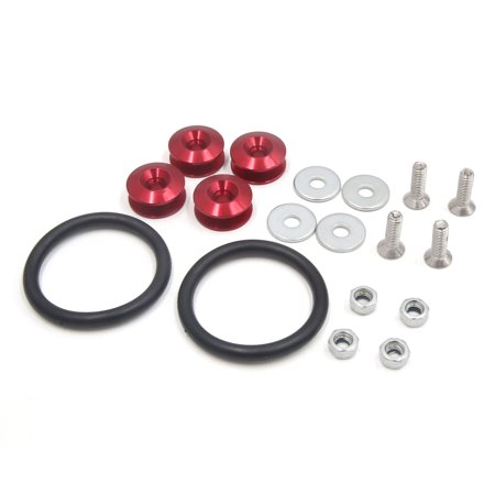 Universal Red Quick Release Car Bumper Trunk Fender Hatch Lid Fastener Kit - Hatch Release Switch