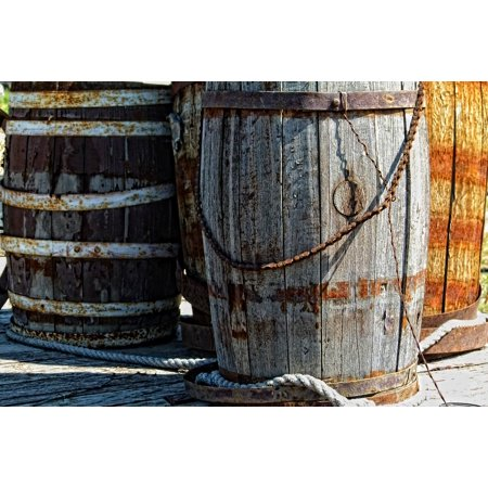 Canvas Print Wood Kegs Ancient Wooden Barrel Heritage Old Stretched Canvas 10 x 14