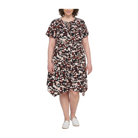 f0bdd2cd1 Tommy Hilfiger Womens Floral Peasant Dress bml 18W - Plus Size - image 1 of  1 ...