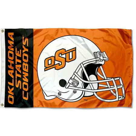 Oklahoma State Cowboys Football Helmet 3' x 5' Pole - Cowboys Helment