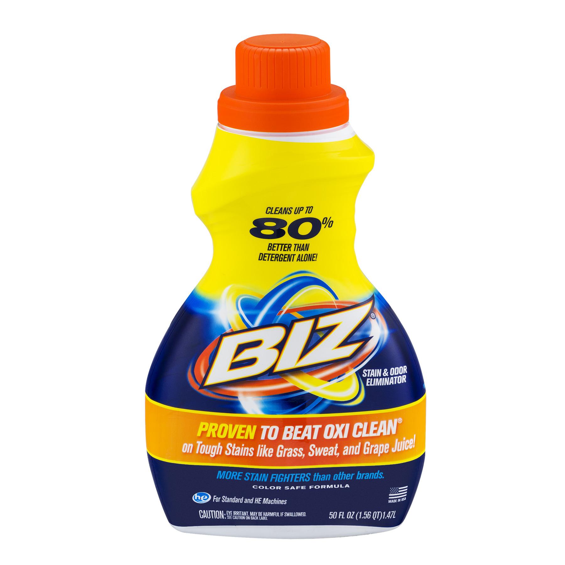 Biz Stain & Odor Eliminator Liquid, 50 fl oz