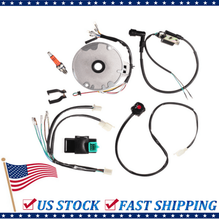 50-125cc Kick Start Dirt Pit Bike Wire Harness Wiring Loom CDI Coil Magneto US - image 9 of 9