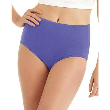 Hanes Cool Comfort Microfiber Brief Panties 8-Pack - - Microfiber Cowl