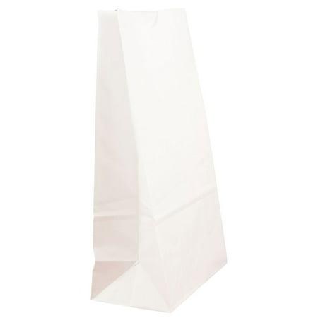 White Paper Lunch Bags (JAM Paper Lunch Bags, Medium, 5 x 9 3/4 x 3, White Kraft,)