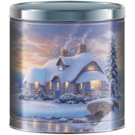 Signature Brands Christmas Popcorn Tin 24 Oz Walmart Com