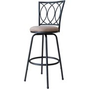 Roundhill Redico Adjustable Metal Bar Stool, Powder Coated Black by Roundhill