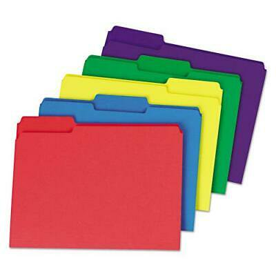 Heavyweight File Folders, 1/3 Cut One-Ply Top Tab, Letter, Assorted,