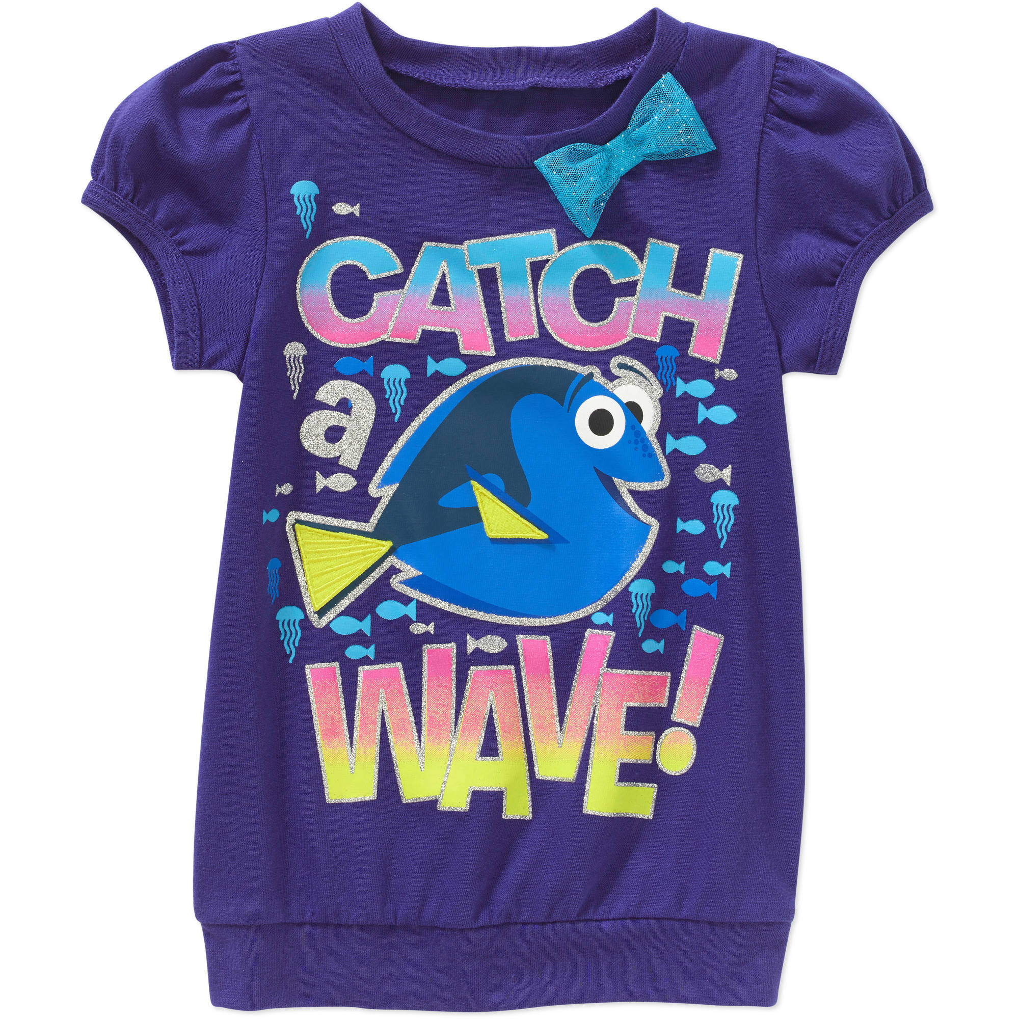 Finding Dory Toddler Girls' Graphic Puff Sleeve Tee Shirt