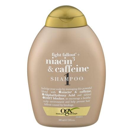 Organix Fight Fallout Plus Shampoo, Niacin & Caffeine, 13 Fluid Ounce ()