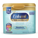 4-Pack Enfamil PREMIUM Newborn Non-GMO Infant Formula (22.2 oz)