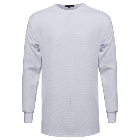 (FashionOutfit Men's Basic Long Line Thermal Long Sleeve Tee)