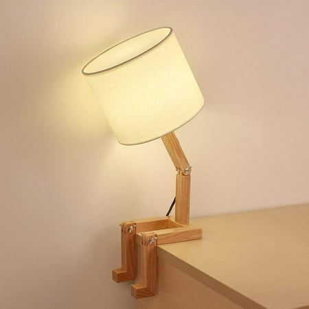 Haitral Wooden Table Lamp Creative Adjustable Stand For