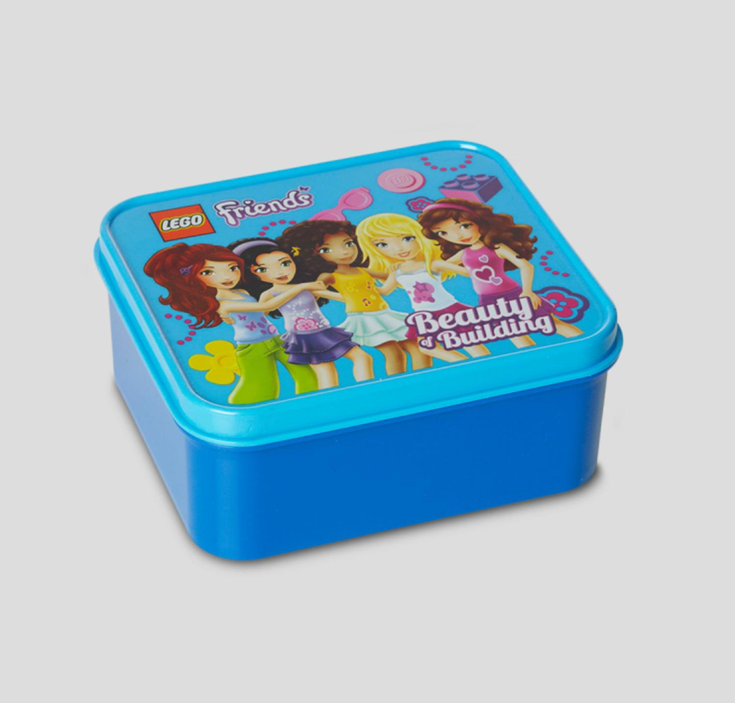 LEGO Friends Children's Dark Azur Blue Lunch Box