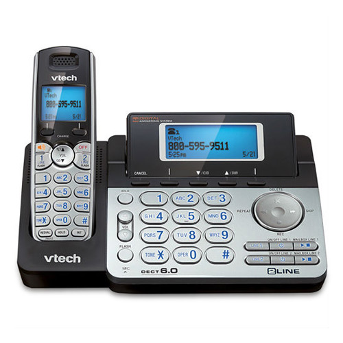 VTech DS6151 2 Line Single Handset Cordless Phone w  13 Minute Digital Answering System by VTech