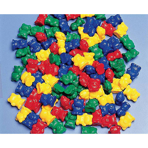 """Childcraft Small Bear Counters, 0.75"""", Set of 100"""