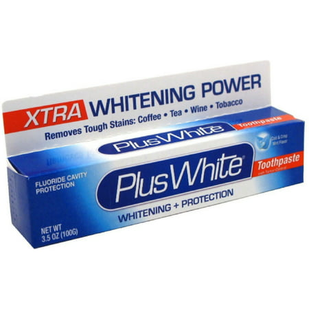 Plus White Dentifrice Xtra Whitening Whitening menthe fraîche 3,50 oz (Pack of 6)