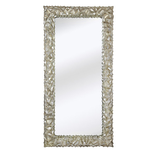 Majestic Mirror Huge Rectangular Shiny Chrome Decorative Glass Wall Mirror