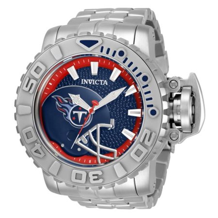 Invicta Men's 33043 NFL Tennessee Titans Automatic 3 Hand Blue Dial Watch