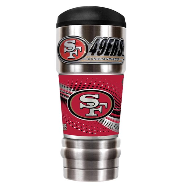 San Francisco 49ers Nfl Mvp Stainless Steel 18oz Travel Tumbler Mug