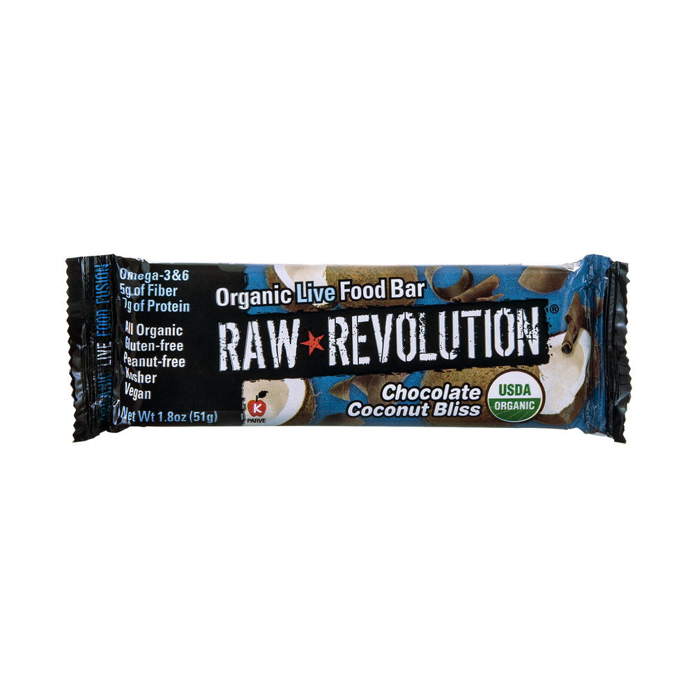 Raw Revolution Organic Live Food Bar Chocolate Coconut Bliss, 1.8 OZ