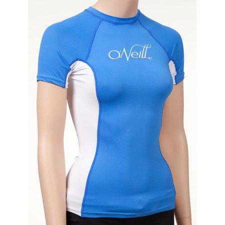 Women 39 s short sleeve rashguard lycra swim shirt with 50 for Men s uv swim shirt short sleeve