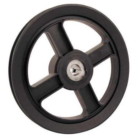 "FENNER DRIVES AFD7458 V-Belt Pulley, 5/8""Fixed, 7.25""OD, Nylon"