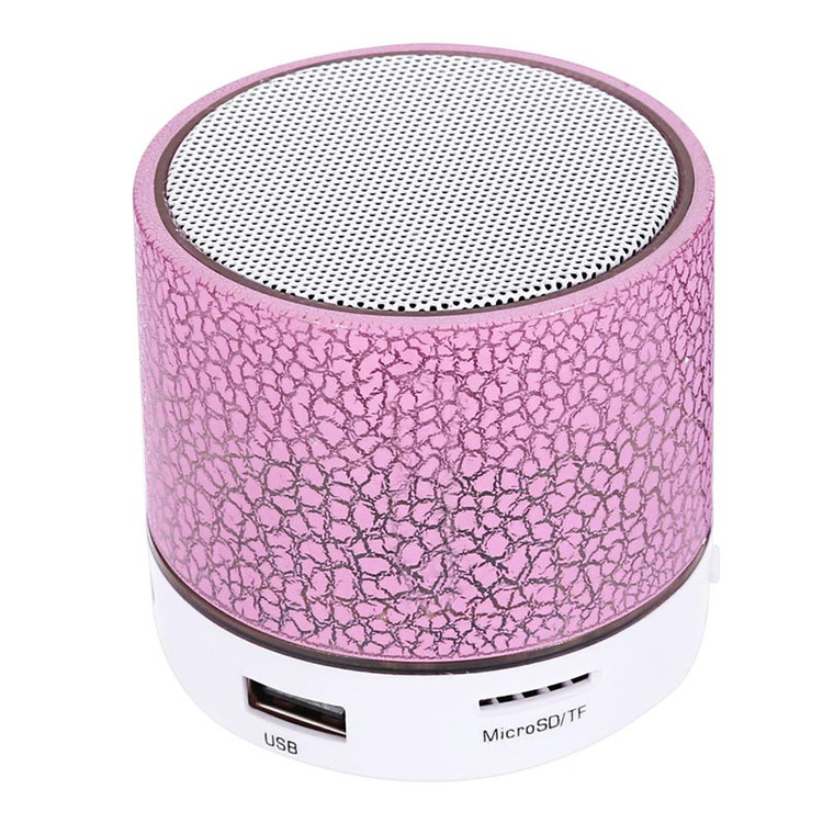VicTsing LED Portable Mini Bluetooth Speaker Crack Pattern Wireless Bass Speaker Support Micro SD/TF Card / USB / FM (Blue)