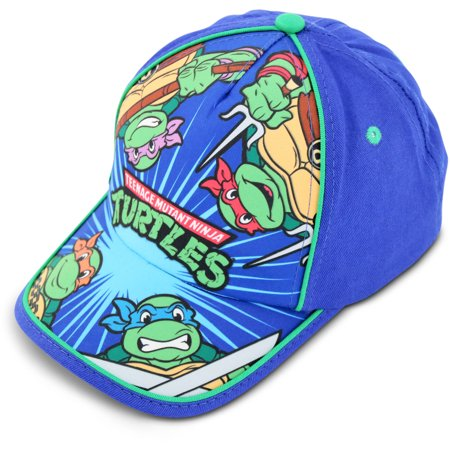 Little Boys TMNT Cotton Baseball Cap, Age 2-7