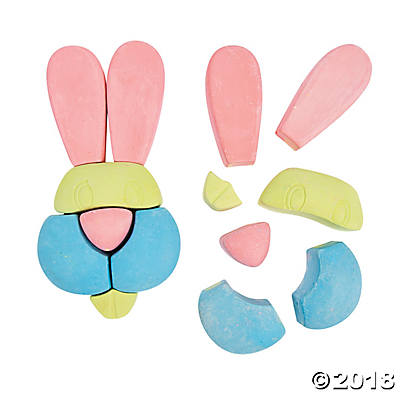 Easter Bunny Sidewalk Chalk(pack of 4)