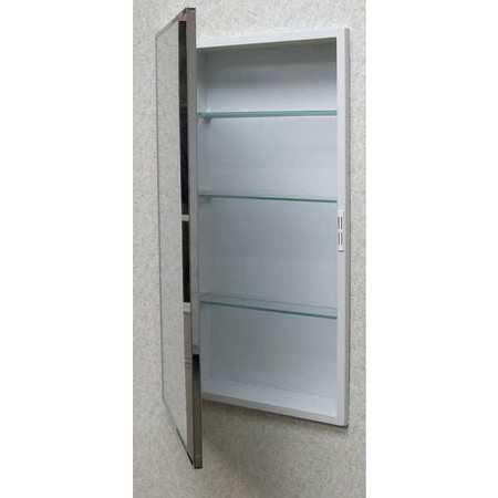 "KETCHAM Recessed Medicine Cabinet, Stainless Steel, 22""H x 16""W, 1622"