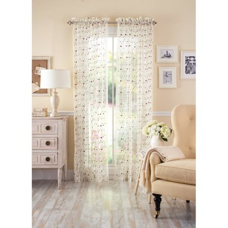 Better homes and gardens floral embroidered vintage rose Better homes and gardens valances for small windows