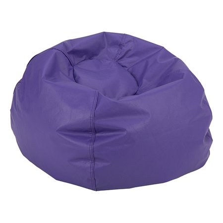 Wondrous Round Bean Bag Chair 35 D Purple Machost Co Dining Chair Design Ideas Machostcouk