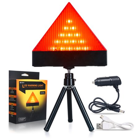 FGY LED Warning Light Emergency 3W Flashing Beacon Amber New Strobe Car Vehicle (Red)