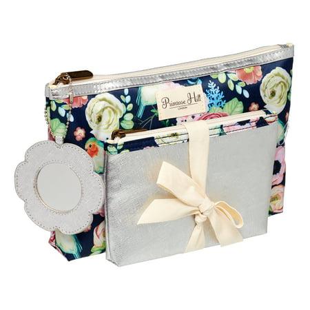 Primrose Hill Makeup Bag 2-piece Clutch Set Rose Floral ($15 - Bat Makeup