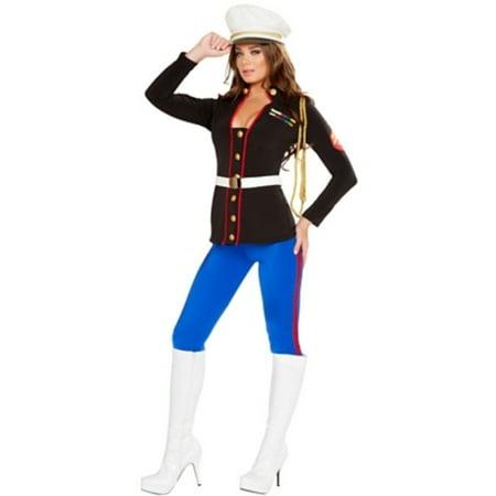 Sexy Marine Corporal Costume Roma Costumes 4701 Black/Blue](Marnie Halloween)