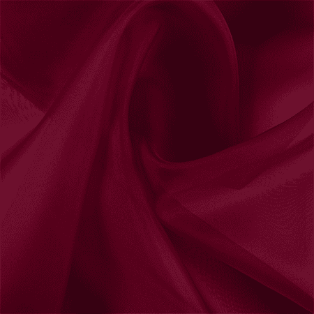 Dark Red Silk Organza Fabric By The Yard