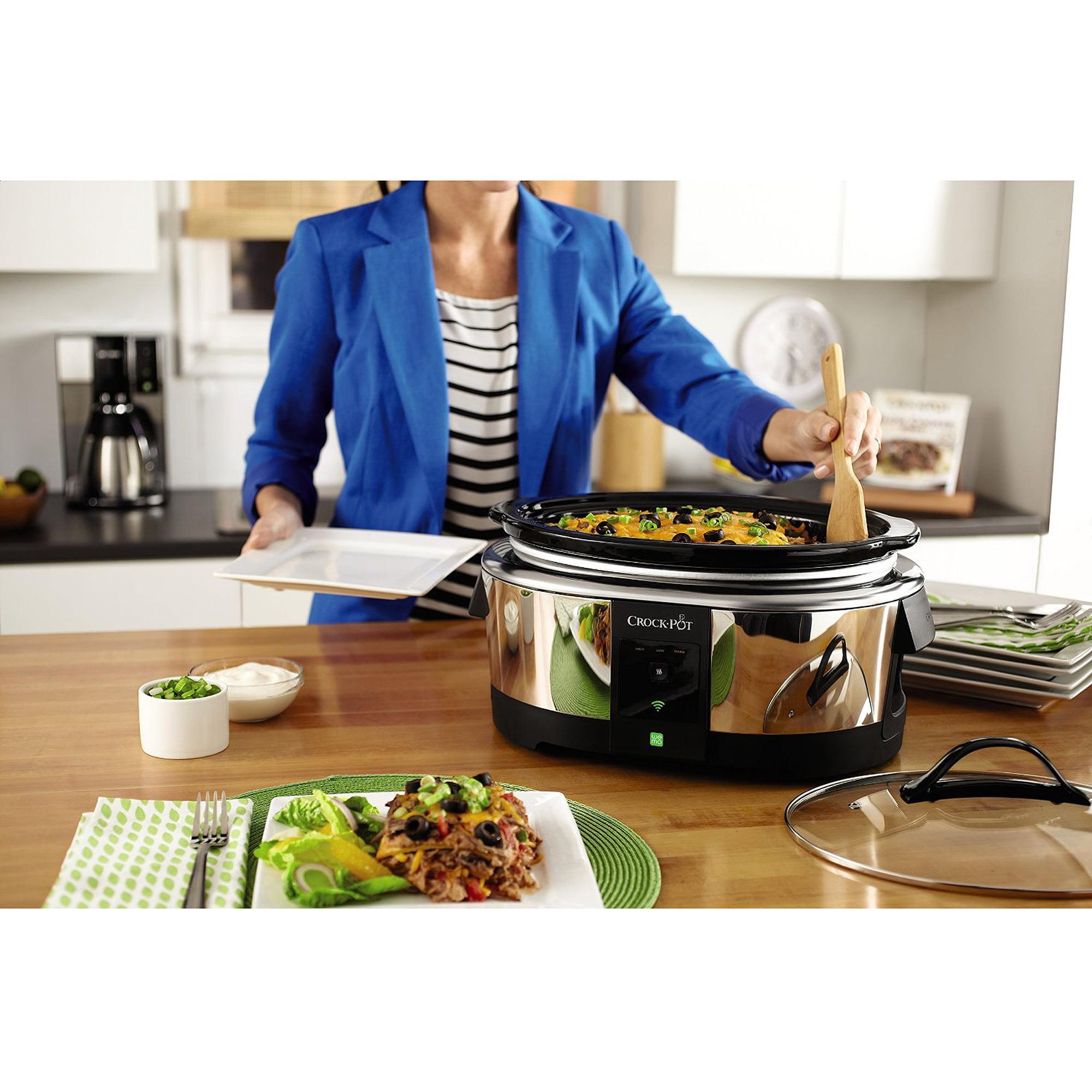 crockpot 6quart smart slow cooker enabled by wemo stainless steel sccpwm600v2 walmartcom