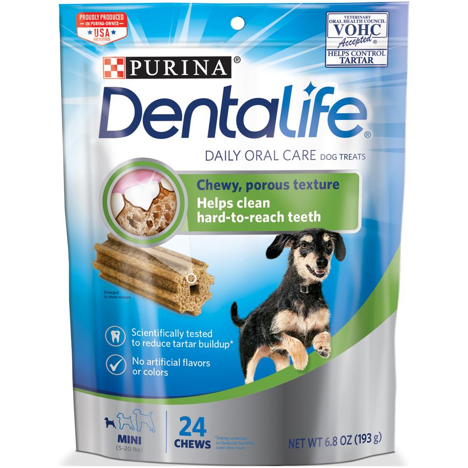 Purina DentaLife Daily Oral Care Mini Dog Treats - 6.8 oz. Pouch