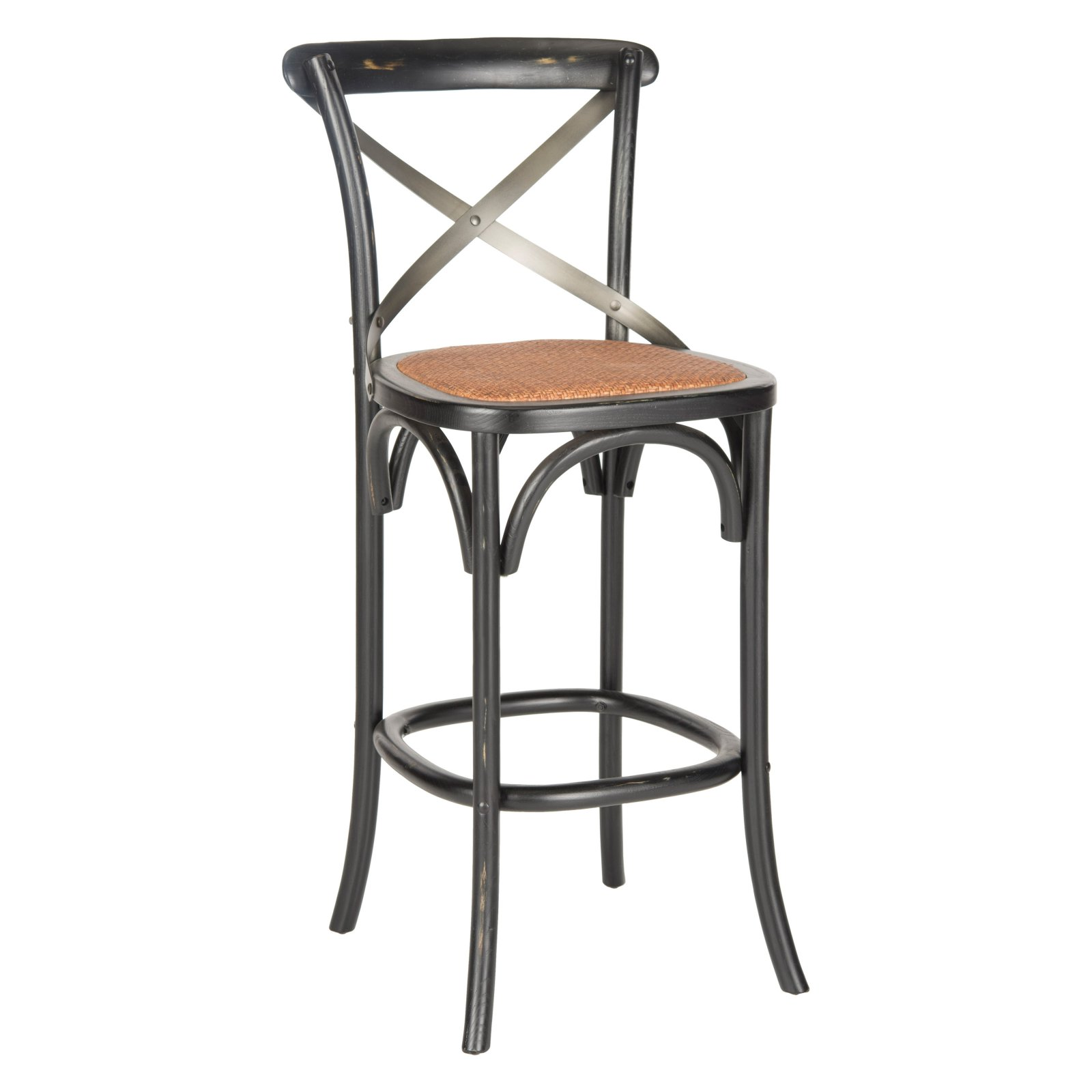 Safavieh Eleanor 29.5 in. X-Back Bar Stool