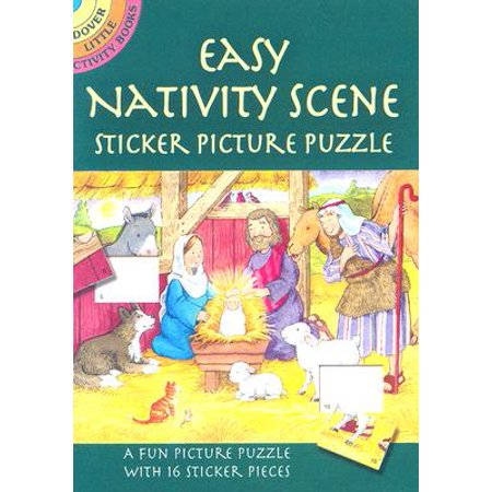 Easy Nativity Scene Sticker Picture Puzzle - Nativity Stickers