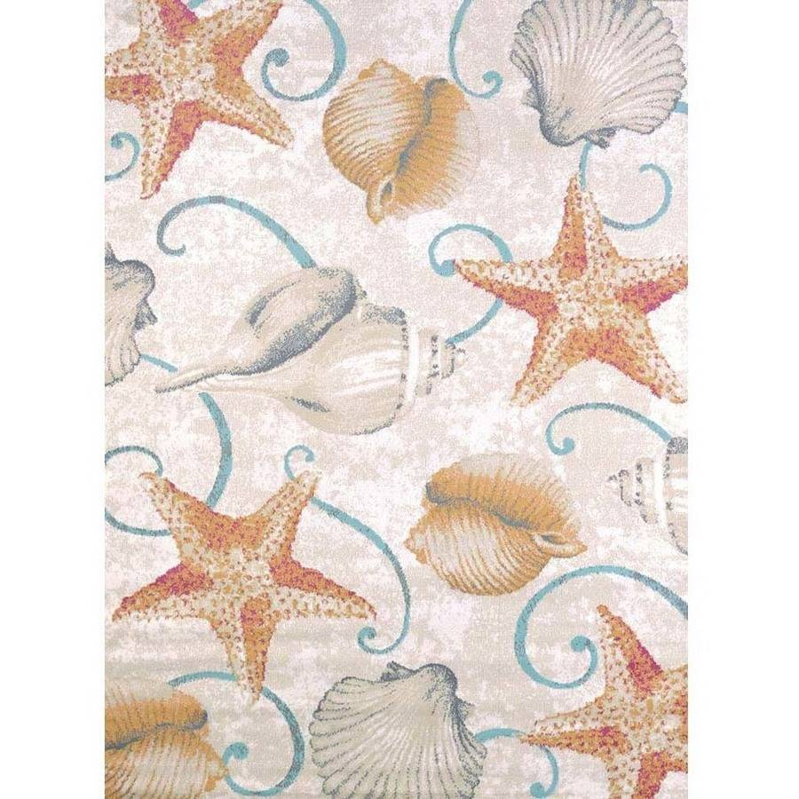 United Weavers Seaside Beach Shells Natural Woven Olefin Area Rug