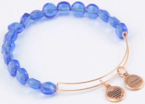 """Alex and Ani """"Bangle Bar Color Palette"""" Sapphire Luxe Gold Bracelet BBEB113G by Alex and Ani"""