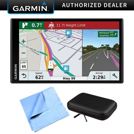 Garmin RV 770 NA LMT-S RV GPS Navigator for Camping Enthusiast w/ Hardshell Case Bundle includes PocketPro XL Hardshell Case and Cleaning Cloth (Rv Gps With Backup Camera)
