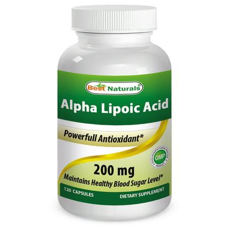 Best Naturals Alpha Lipoic Acid 200 Mg 120 (Best Natural Remedy For Diabetes)
