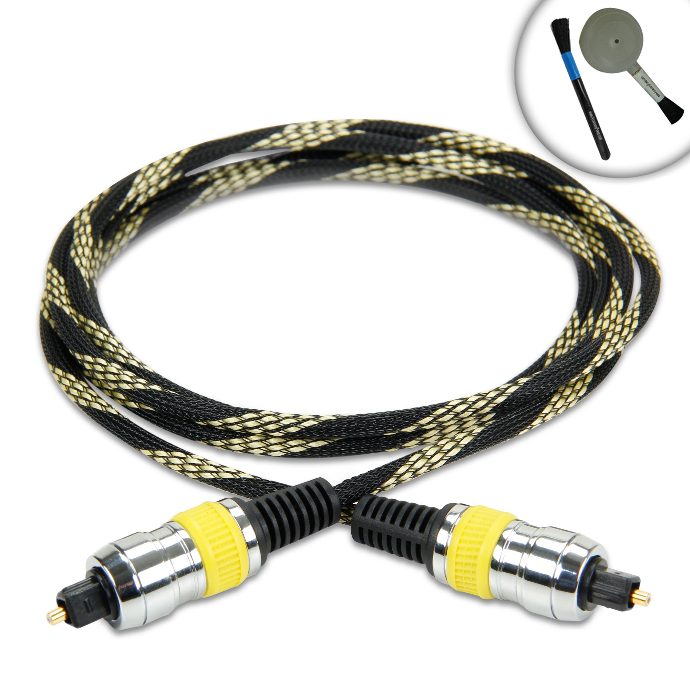 DATASTREAM Digital Audio Optical TOSLink Cable (6') w  High Fidelity Audio Transfer & Nylon Braided Cable Works with... by Accessory Power