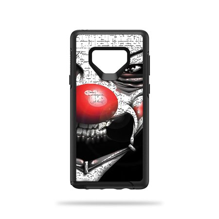 MightySkins Skin For OtterBox Symmetry Galaxy Note 9 - Evil Clown | Protective, Durable, and Unique Vinyl Decal wrap cover | Easy To Apply, Remove, and Change Styles | Made in the USA (Evil Clown Paintings)