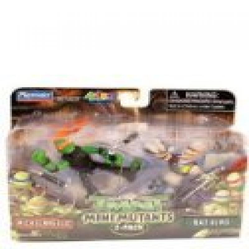 Teenage Mutant Ninja Turtles Mini Mutants Figure 2-Pack, Michaelangelo and Rat King